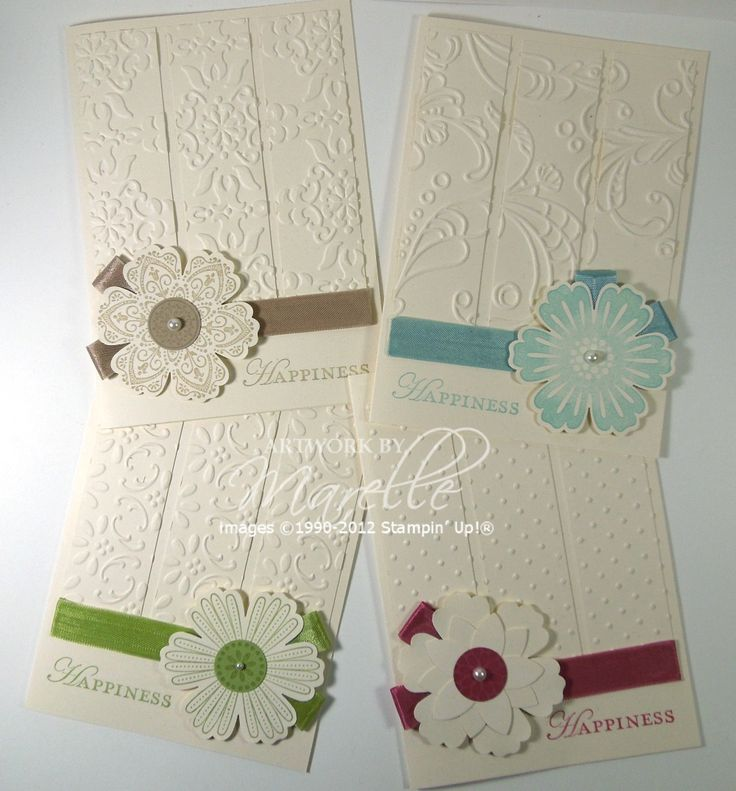 Different embossing, different accents, different colors, 1 set. Love it.