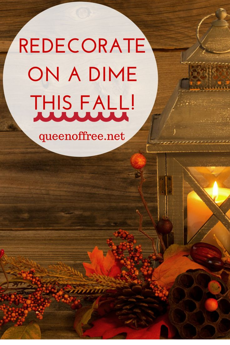 Fall decorating on a budget - Redecorate On A Budget This Fall