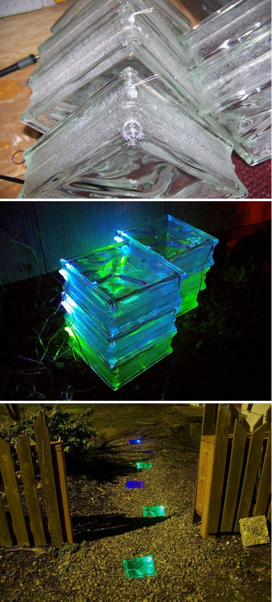 DIY Glowing Solar Walkway (Click Photo)  / Check out Charter Arms on Pinterest or visit our web-sight at CharterFireArms.Com