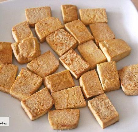 Cómo cocinar tofu. Receta de tofu firme salteado . Hecho !!!!