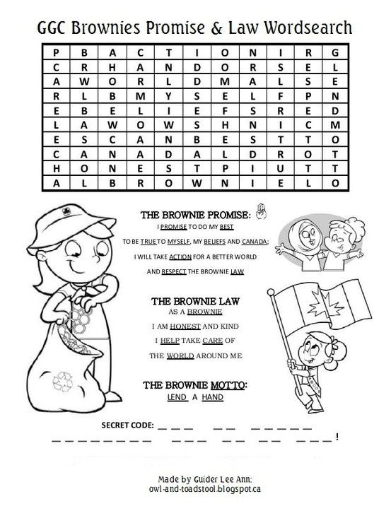 Girl Guide Word Search   Alouette District Girl Guides