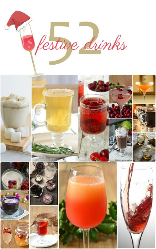 52 Holiday Cocktails and other festive drinks to sip on throughout the holiday season. From @COOKtheSTORY
