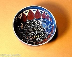 """Royal Copenhagen Aluminia Faience Bowl Beth Breyen  4.25""""dia x 2.25""""h"""