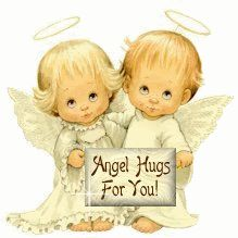 Angel Hugs for You cute animated angel friend good morning good day blessings greeting beautiful day friend greeting lovely day friend wishes