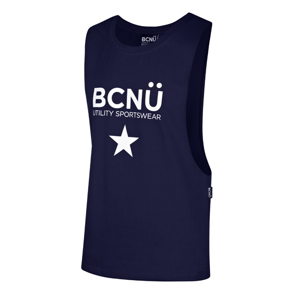 Step out in a sporty looking Tank Top which is great for any occasion. Wear it whilst you're working out, with a pair of Jeans or to the beach. Featuring low cut sides that will have you feeling cool whilst showcasing your most valuable assets.    For that sporty look the Rockerfella Tank Top features our sporty BCNÜ Sportswear logo. AUD 44.95