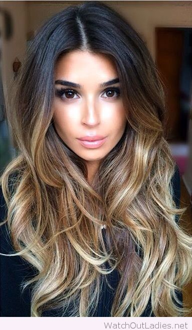 Perfect ombre long wavy hair for winter time