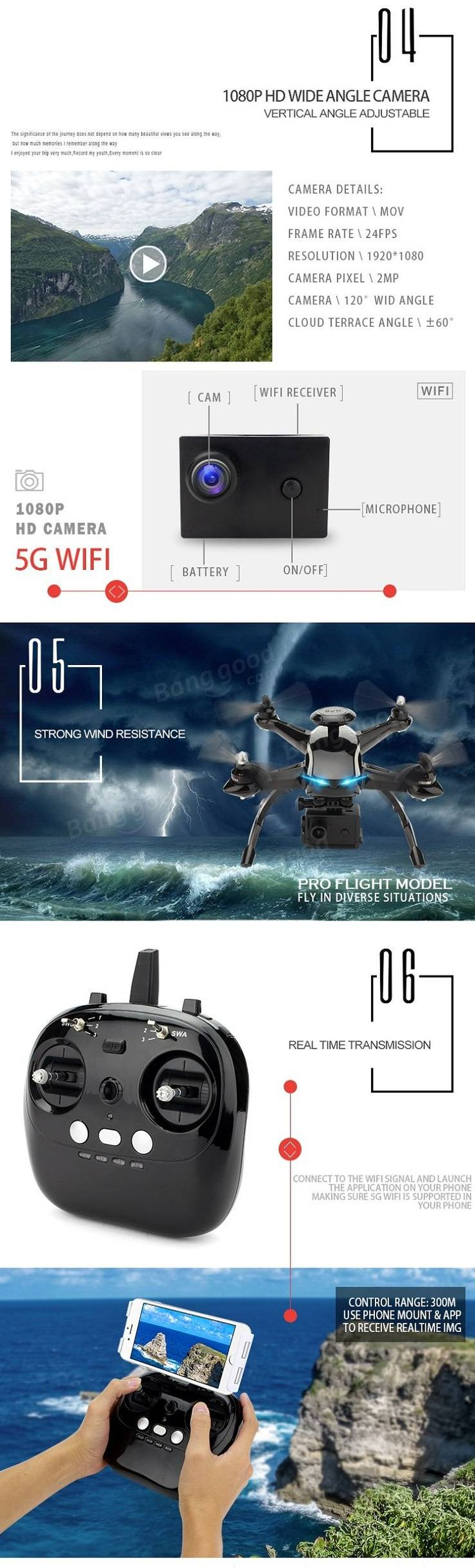 AOSENMA CG035 Double GPS Optical Positioning WIFI FPV With 1080P HD Camera RC Drone Quadcopter