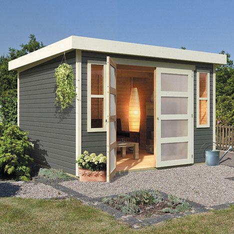 111 best Abris de jardin, maisonnettes et cabanes images on - maison bois en kit toit plat