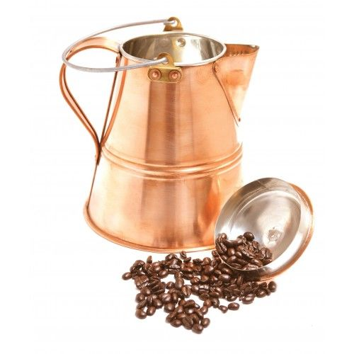 Vintage Coffee Pot by Jacob Bromwell, Inc  Vintage Coffee Pot   Handcrafted from pure copper, our unique coffee pot holds 7 cups and promises to bring a touch of early Americana to your kitchen.  Very Limited Supply. $349.99 http://jacobbromwellcookware.blogspot.com/2013/08/how-to-choose-best-cookware.html