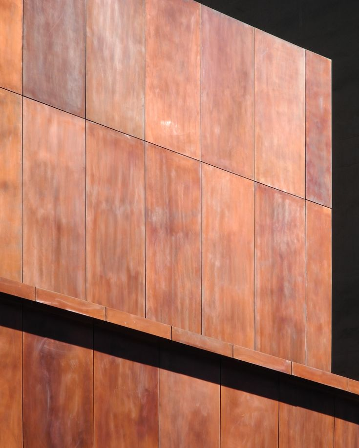 Metal sheet and panel for facade TECU® Brownished - KME Architectural Solutions