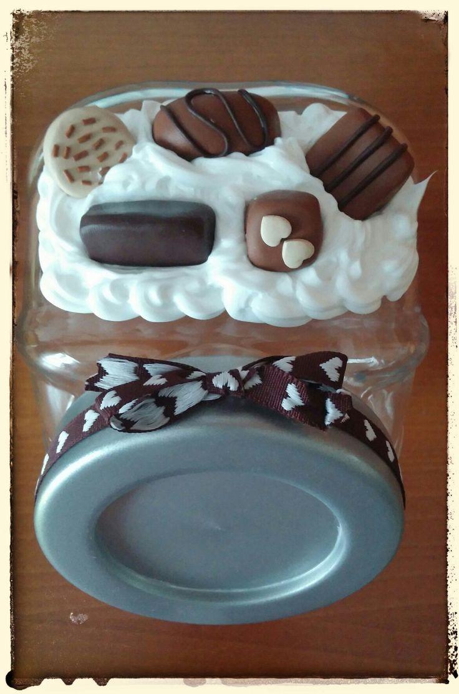 vaso porta cioccolatini in fimo