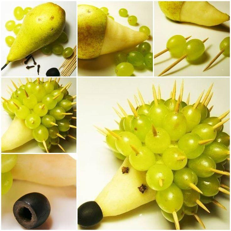 ježek z ovoce