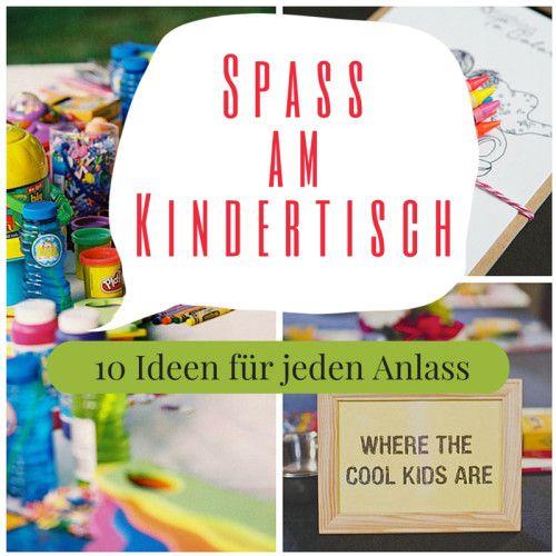 Die besten Dekoideen für den Kindertisch. Egal ob Hochzeit, Geburtstag oder sonst eine Feier: Diese 10 Ideen werden die Kinder lieben!
