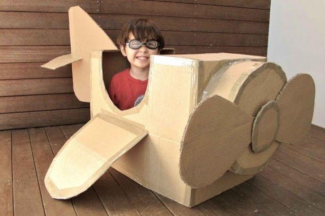 Cardboard-Plane kids paper craft