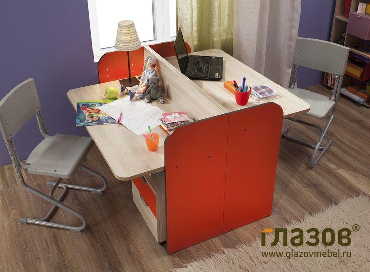 Высота письменного стола регулируется. Детская АВТОБУС