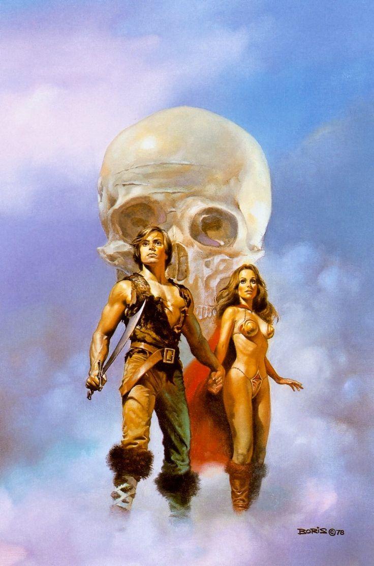 "Boris Vallejo illustration, ""Death journey,"" 1978"
