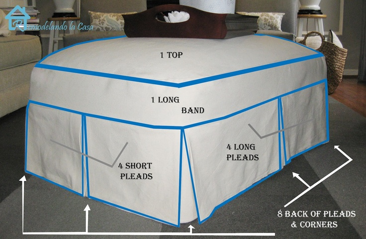 Sew a Slip cover for your  ottoman                                                                                                                                                                                 More