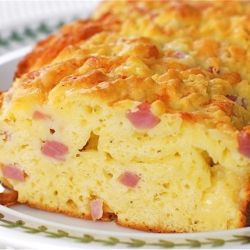 Savory Ham & Cheese Bread, a thick toasted slice is all you need for a great meal!