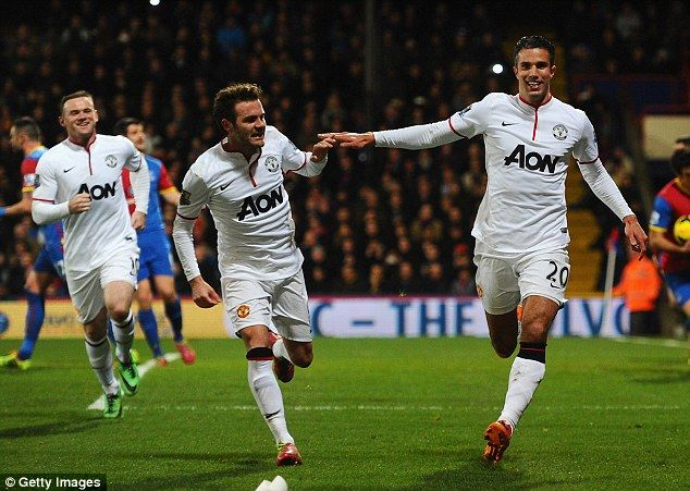 Manchester United, pictured during their 2-0 win over Crystal Palace, play Olympiacos on Tuesday