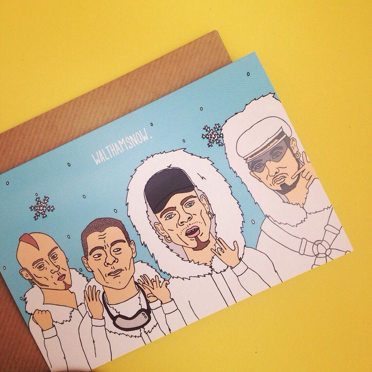 East 17 Fan Christmas card by The Fidorium