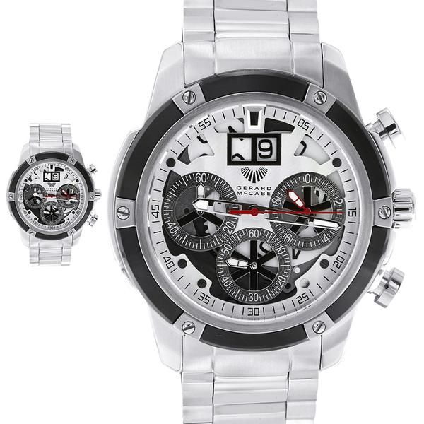 The Axle timepiece has been designed for active men, and features a unique partial skeleton face. This chronograph watch design is able to measure time in 1/20 second units. Perfect for the man always looking to break his personal best. This watch is backed by the Gerard McCabe 3 year warranty.