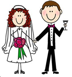 Dibujos. Clipart. Digi stamp - Wedding - Novios - Boda