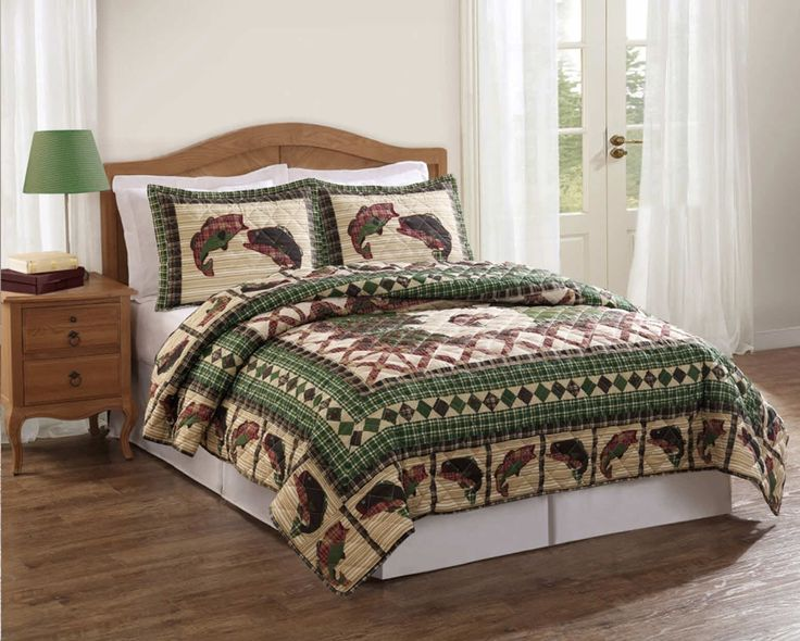 1000 images about men 39 s bedding style on pinterest for Bed fishing for bass