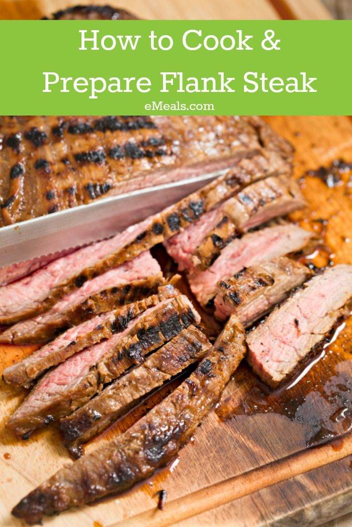 How to cook and prepare flank steak, how to cut with the ...