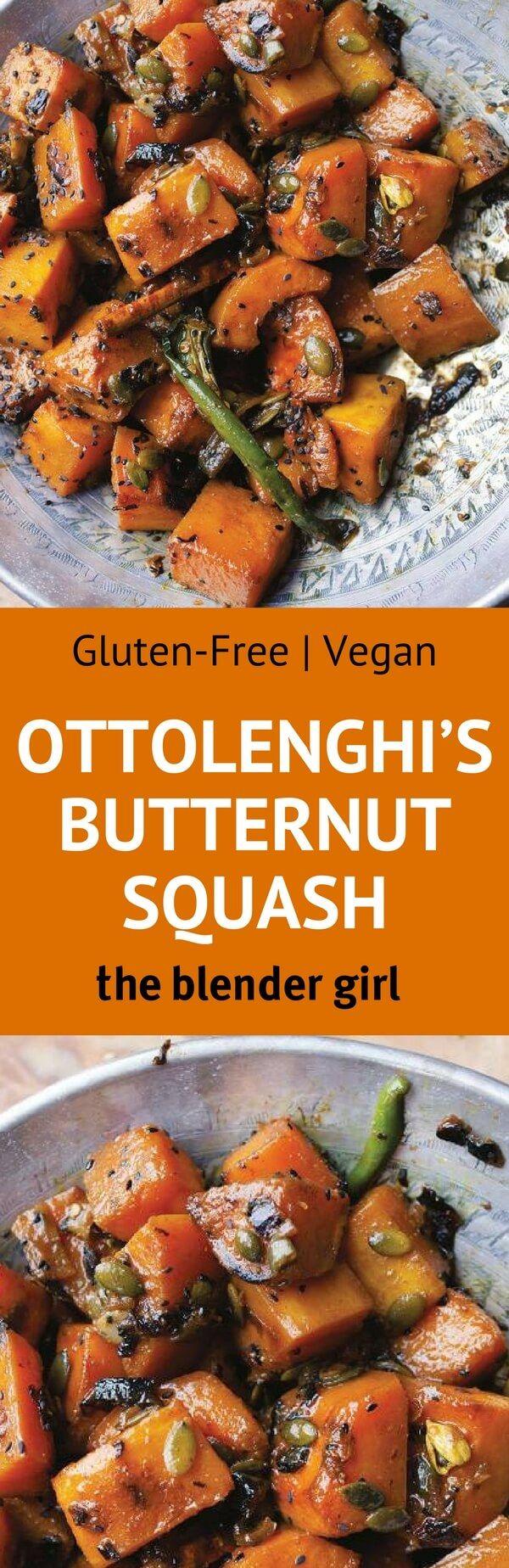 Ottolenghi Recipes | Plenty More Recipes | The Blender Girl #glutenfree #vegan #butternutsquash