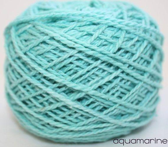 Aquamarine Cotton yarn Pack of 12 balls Soft Cotton Yarn