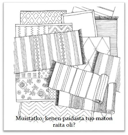 "This cute coloringbook ""Sisusta ja väritä"" contains  lovely stories behind the pictures and easy information behind the meanings of the colors. Beautiful pictures are drawn by hand an interior designer Satulyyti. Enjoyful and relaxing book <3. Just love it!"