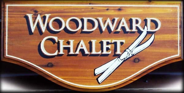 V-carved Western Red Cedar.  Hand painted. Created by Jackie Shields, www.saugeensignworks.com
