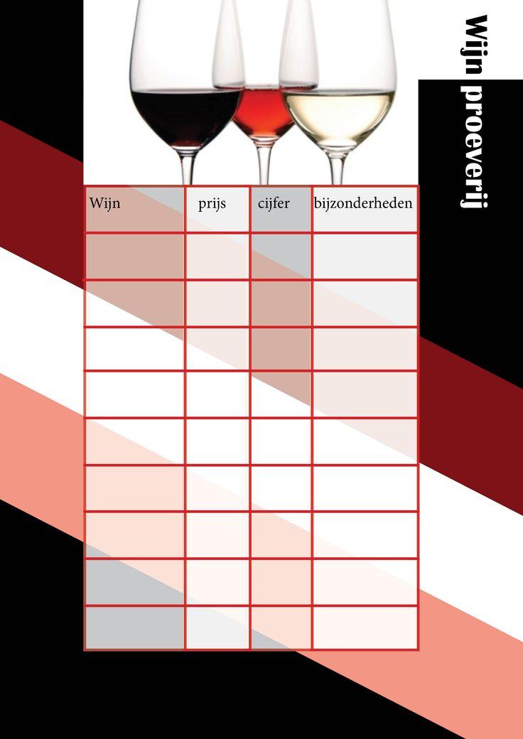 Wijnproeverij formulier
