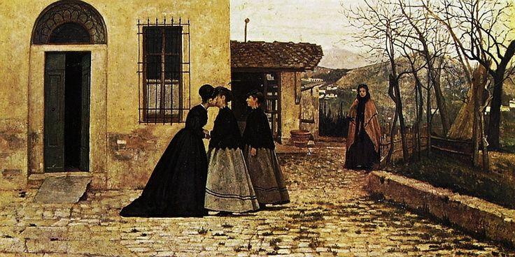 Silvestro Lega, La visita, 1868, Roma, Galleria Nazionale d'Arte Moderna.