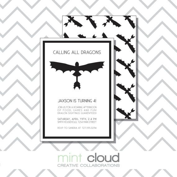 DIY Printable Children's Birthday Invitation  The by MintCloudLLC, $15.00