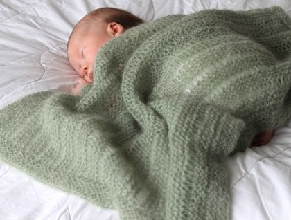 Mossy Baby Blanket- Knitting Pattern PDF