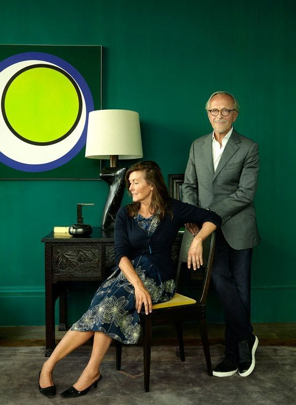 Christian Liaigre and Florence Lopez in his new Paris vintage showroom that they collaborated on | Remodelista