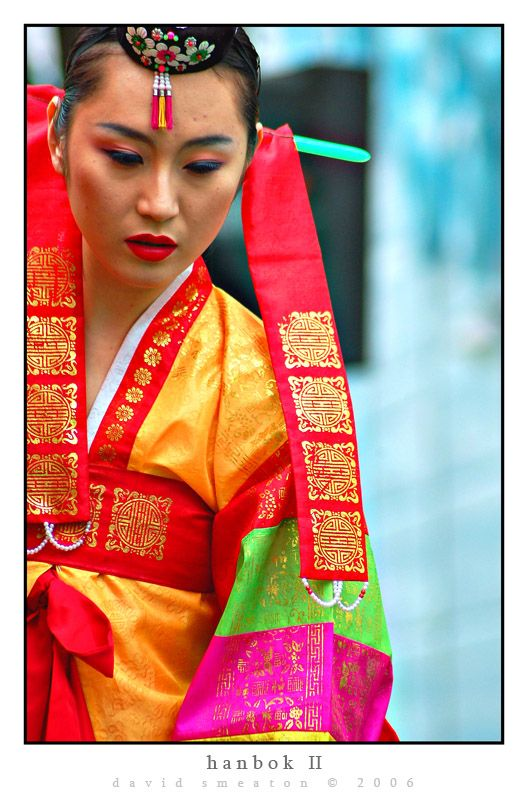 Traditional costume of South Korea.