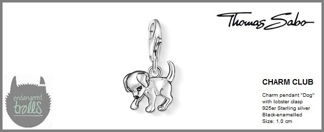 Thomas Sabo Fall 2012 - The Charm Club - Puppy - http://www.endangeredtrolls.com/thomas-sabo-fall-2012-charms-2/#