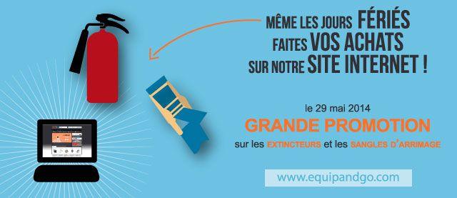 #promotion sur les #extincteurs et sangle d'arrimage le 29 mai grâce au #codepromo : #JFASC14 sur notre site internet