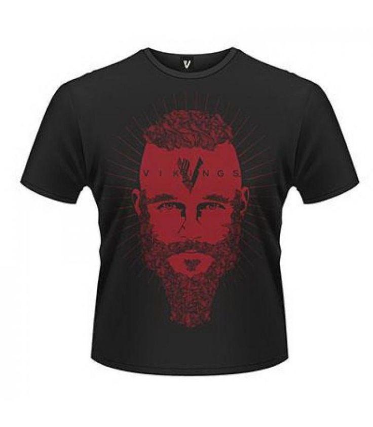 Serie VIKINGOS - Camiseta de chico M/C Vikings Camiseta RAGNAR FACE   - OFICIAL