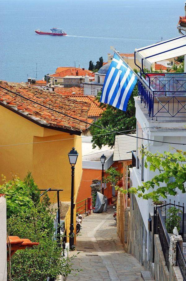 Little street in Kavala