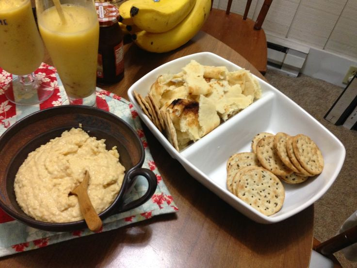 Jungle Book Theme Dinner: Shere Khan's Hummus and Naan Bread AND gluten free crackers!