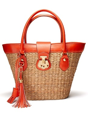 Talbots Beacon Hill straw tote: the iconic summer bag.