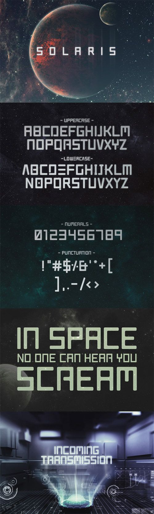 i like the galaxy colours and the futuristic font used.