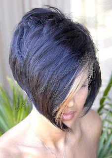 Cheveux Femme Hair Fashion Blog: very short angled black bob where ...