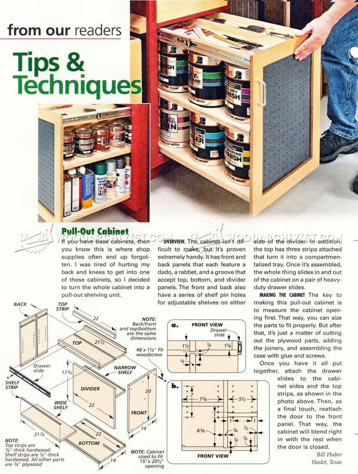 Pull Out Cabinet - Workshop Solutions Projects, Tips and Tricks | WoodArchivist.com
