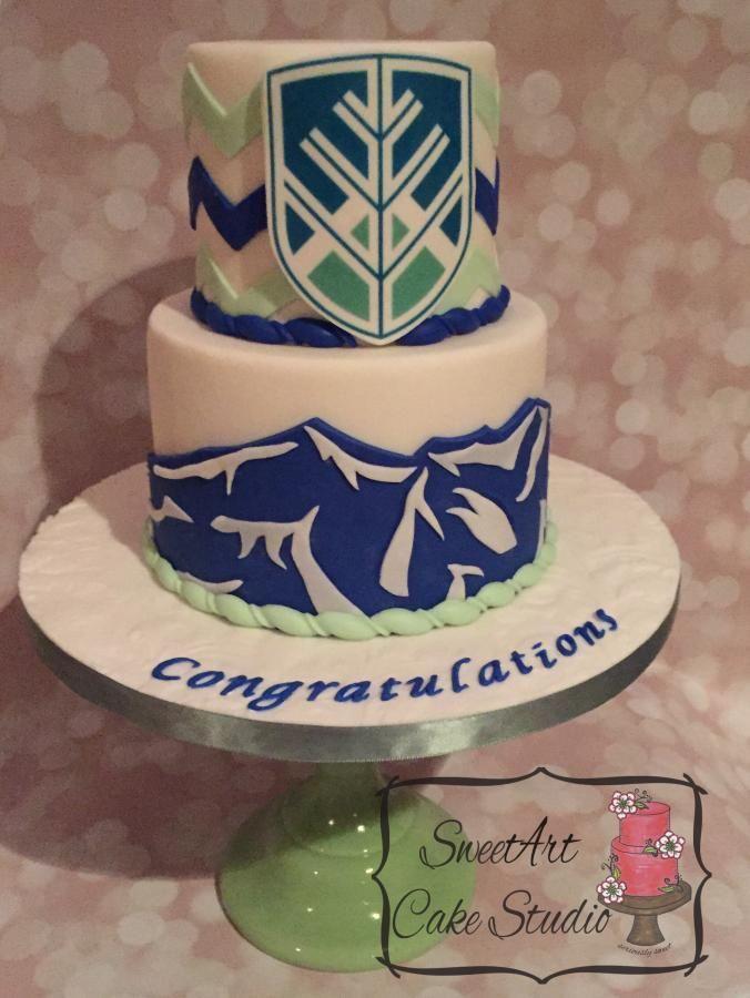 Northern Arizona University Graduation Cake   http://www.cake-decorating-corner.com/