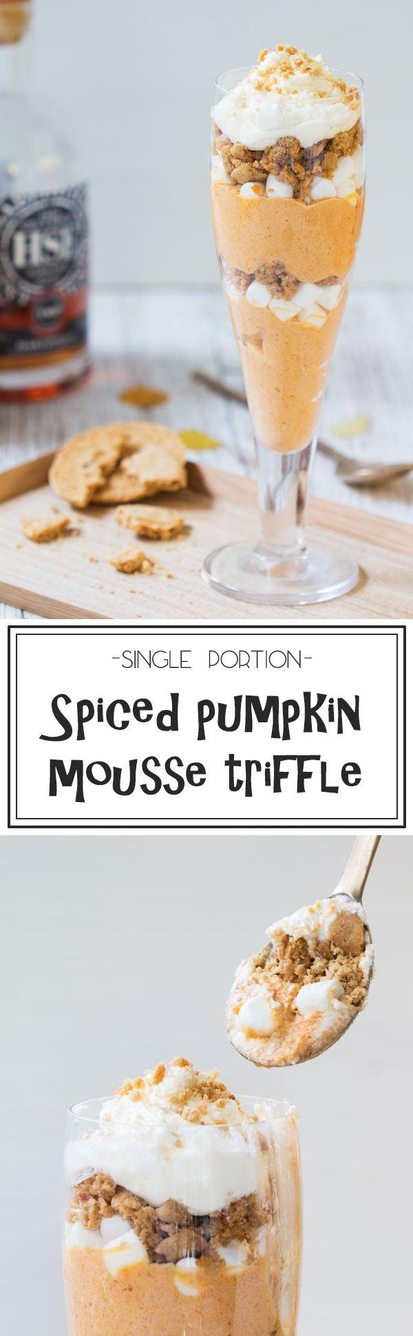 Spiced pumpkin mousse triffle