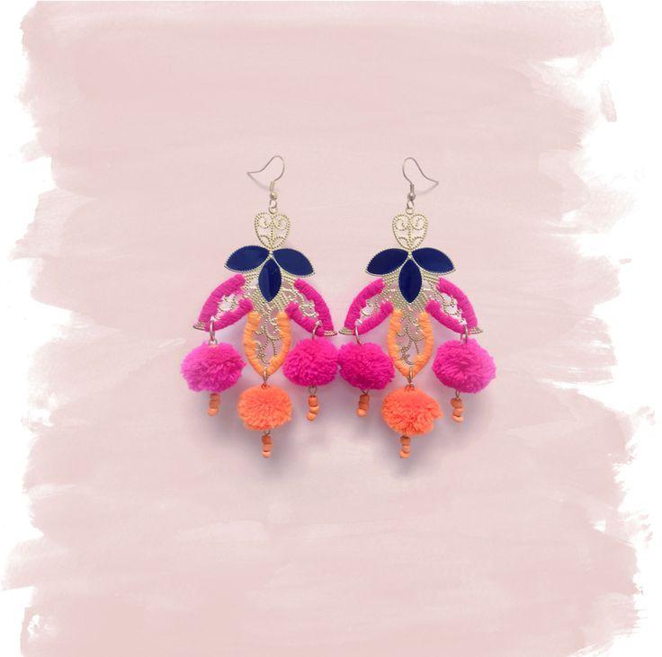 Katie Kime Moroccan Pom Pom Earrings